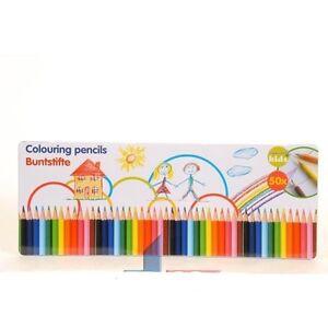 palette 50 crayons couleur dessin eveil bois dessins enfant jouet fille neuf 14 ebay. Black Bedroom Furniture Sets. Home Design Ideas