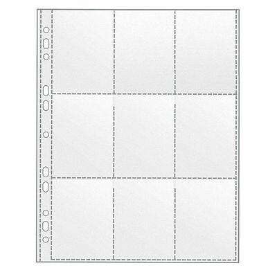 Sammelhüllen Prospekthüllen A4 9 Taschen Trading Cards Hülle Hüllen