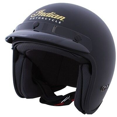 Indian Motorcycle Open Face Black Helmet Adult size Medium