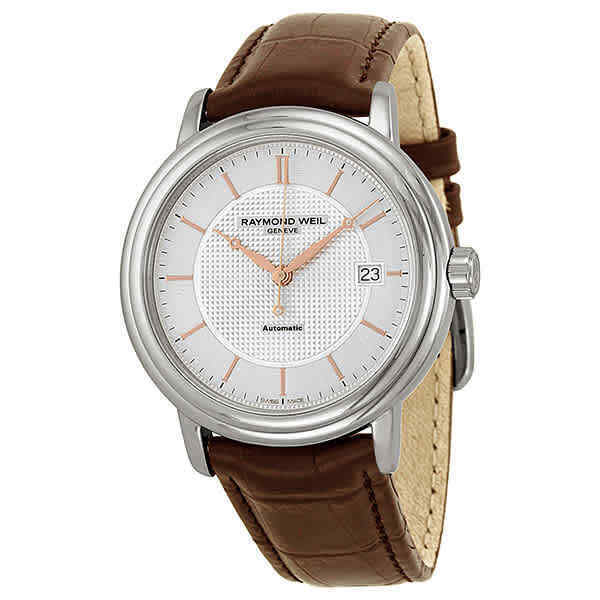 Raymond Weil Maestro Silver Dial Stainless Steel Brown Leather Automatic Men