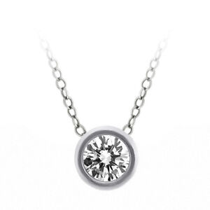 1-4-Ct-Solid-14K-White-Gold-Round-White-Diamond-Pendant-With-18-Inch-Gold-Chain