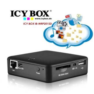 ICY BOX IB-WRP201SD WiFi-Station for SD cards, Access Point and P
