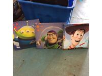 Toy Story wall canvas x3