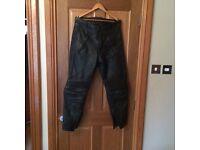 Belstaff men's 36 leather motorbike trousers