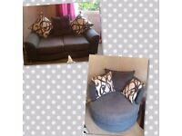 Two seater and swivel chair