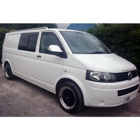VW LWB T30 2.0TDI CAMPERVAN CONVERSION WITH REMAPPING 2011 T5 MODEL IN WHITE