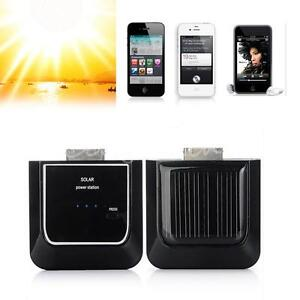 External Solar Portable Power Backup Battery Charger for iPhone 4S 4G iPod Touch