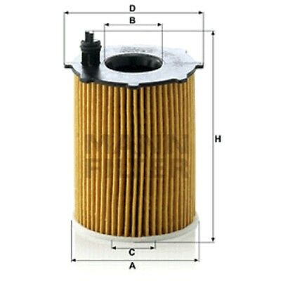 Mann Oil Filter Element Metal Free For Citroën Berlingo 1.6 HDI 75