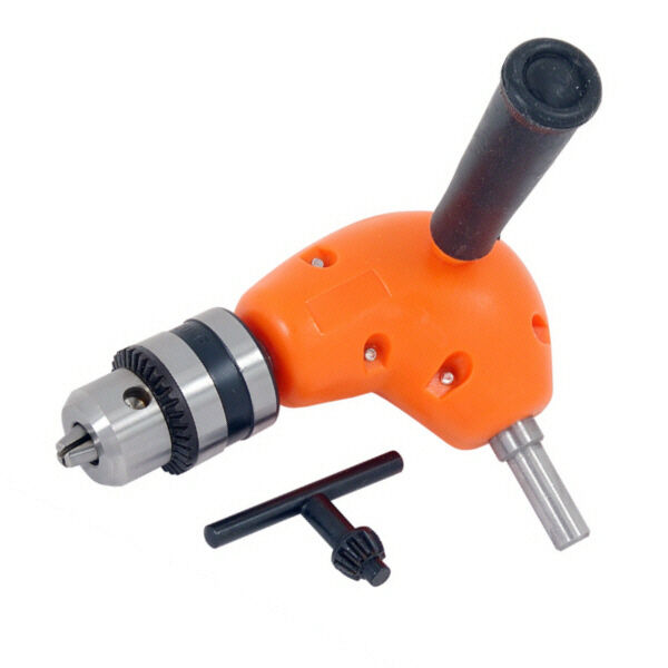 CT0999 Right Angle Drill Chuck Attachment Hand & Electric Drill Compatible & Key