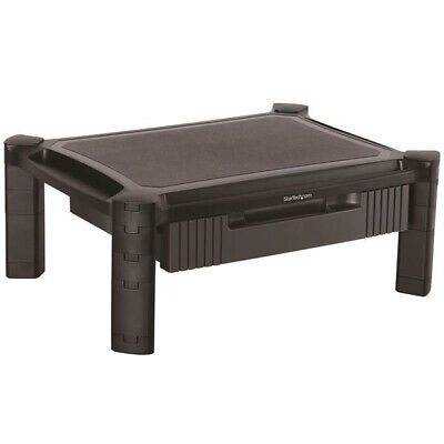 monstadjd monitor riser stand with drawer up