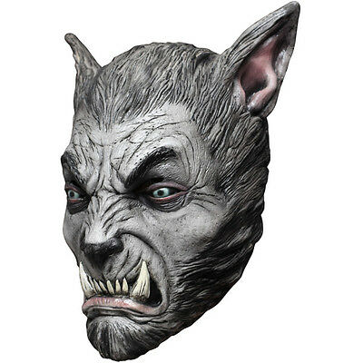 Gray Werewolf Silver Beast Monster Adult Latex Halloween Mask