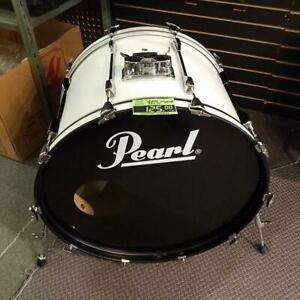Pearl Export white bass drum-grosse caisse 24x16 blanche used-usagé