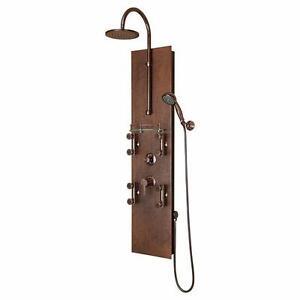 Hammered Copper & Nickel - Shower Massage Panels