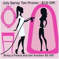 ORGANIC SPRAY TANS - ONLY $35