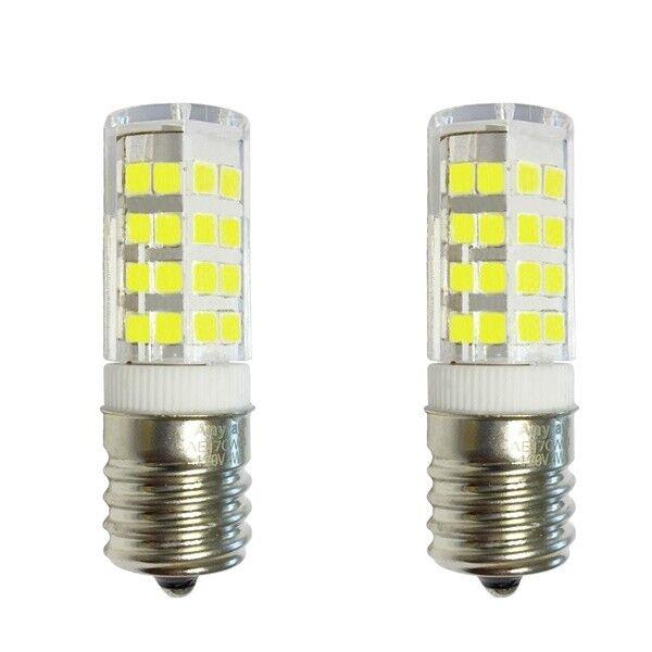 2-Pack Appliance Refrigerator LED Light Bulbs 4W E17 6000K C