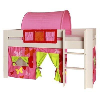 Vorhang 100% Baumwolle Stoff für Hochbett Spielbett Etagenbett Kinderzimmer pink