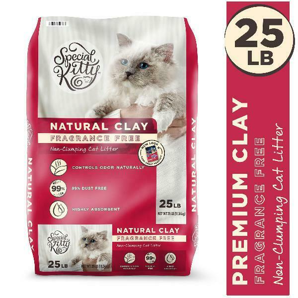 2 Pack Natural Clay Cat Litter Value Unscented 50 lb Sale Highly Absorbent NEW