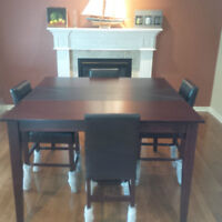 Beautiful dining table bought at The Brick