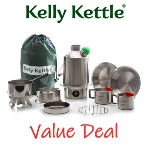 Kelly Kettle Ultimate Scout Kit – Stainless Steel Camp Kettle | Free US Shipping