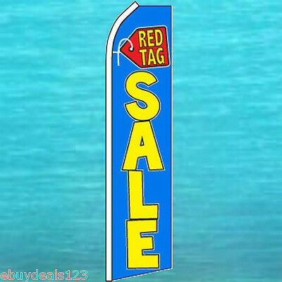 Red Tag Sale Feather Flutter Flag Swooper Advertising Sign Bow Banner