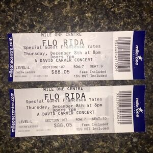 2 flo rida tickets for this Thursday night