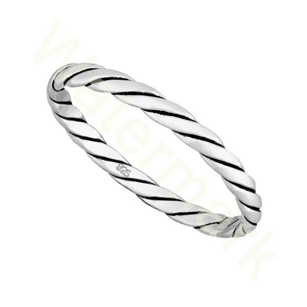 NEW Sterling Silver  Diamond Cut 2mm  Band  Ring  in Sizes G-Z