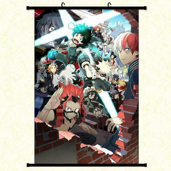 My Hero Academia Fabric  Framed Poster with hooker 24x36 INC