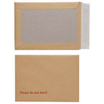 10x A6 Board Back Backed Envelopes Size 114x162mm Strong Stiff Postal Mailers