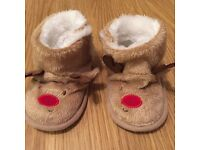 From mothercare Never worn inculcate Size 9-12 months Reindeer