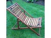 Teak garden relaxer