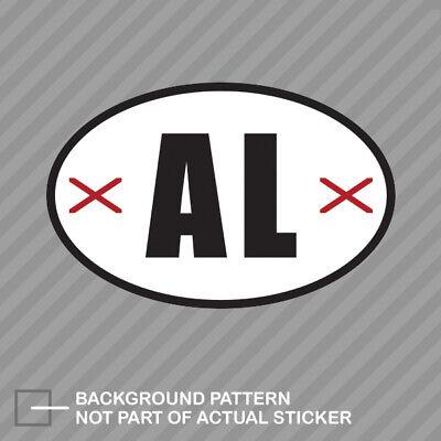 Alabama State Flag Oval Sticker Decal Vinyl V3 AL Alabama Oval Sticker Decal