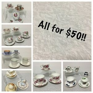 Vintage/antique cups and saucers