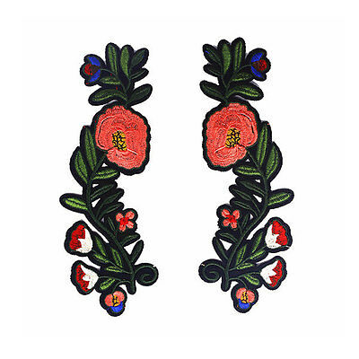a pair flower patch Rose Patch gucci patch embroidered patch iron on patch