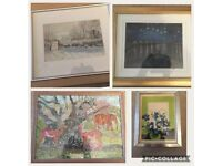 Paintings, pictures and frames