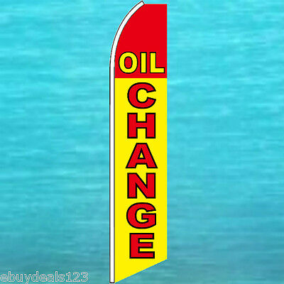 Oil Change Flutter Flag Auto Repair Advertising Tall Sign Feather Swooper Banner