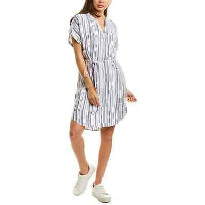 NWT $158 MICHAEL STARS Amelee Striped Caftan Linen Shirt Dress S