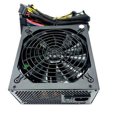 "1000 Watt 140mm 5.51"" Quiet Fan ATX PC Power Supply ATX EPS 12V PCIe SATA 1000W"