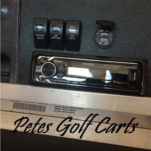 CLUB CAR DS Golf Cart Radio Dash Plate Console For Stereo Sw