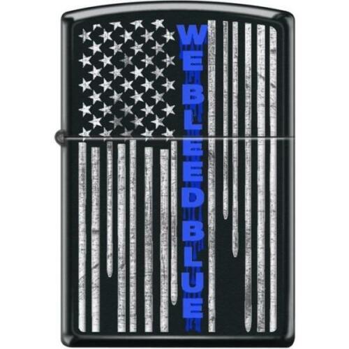 Zippo Lighter - We Bleed Blue Black Matte - 854418