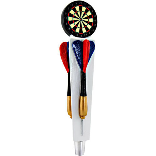 Dartboard & Darts Tap Handle - Draft Beer Kegerator Sports Bar Faucet Lever Knob