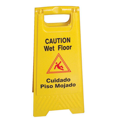 Wet Floor Caution Sign Englishspanish Safty Yellow Th