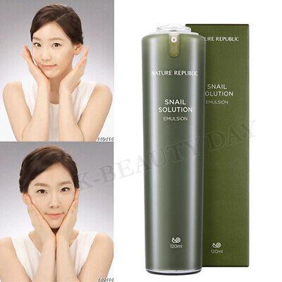 NATURE REPUBLIC Snail Solution Skin Emulsion 120ml Premium Anti-Aging Skin Care
