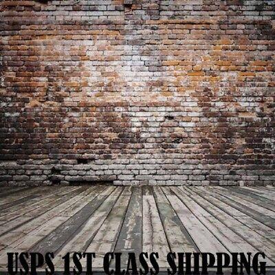 Photography Backdrops Photo Background Brick Wall Wood Floor 5x7ft Vinyl Studio