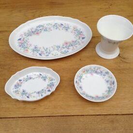 4 pieces of Wedgewood bone china ANGELA RANGE