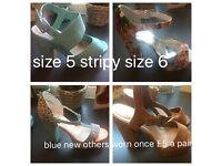 Heels size 5 one pair size 6 £5 each or all for £15