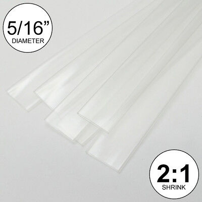 516 Id Clear Heat Shrink Tube 21 Ratio Wrap 5x24 10 Ft Inchfeetto 8mm