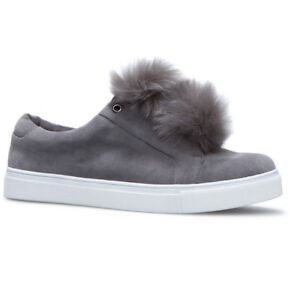 BRAND NEW FLAT WOMENS SNEAKERS WITH FUR - SIZE 11