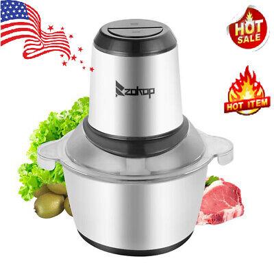 2l Home Food Chopper Meat Grinder Meat Electric Processor Blender Sausage Maker