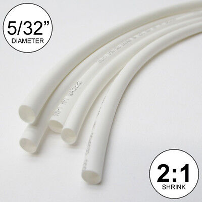 532 Id White Heat Shrink Tube 21 Ratio Wrap 6x9 4 Ft Inchfeetto 4mm