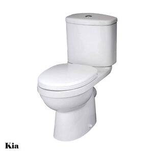 Bathroom Cloakroom Modern Luxury WC Toilet Pan Cistern Inc. Soft Close Seats